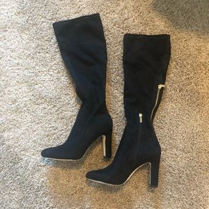 Ivanka trump faux suede knee boots